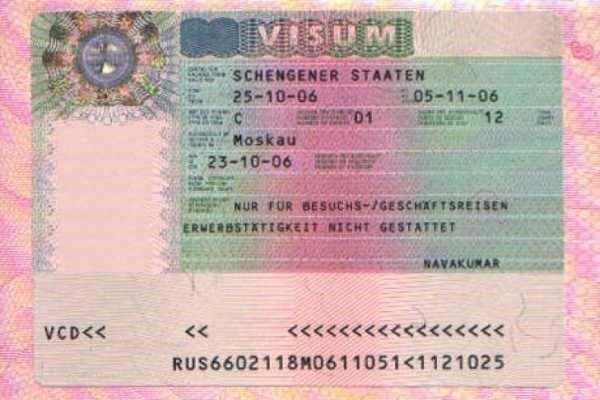 основные документы на визу